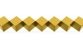 使被隔绝的抽象金立方体 免版税库存图片