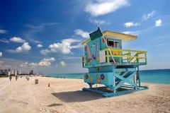 使迈阿密南部靠岸 库存图片