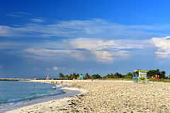 使迈阿密南部靠岸 免版税库存照片