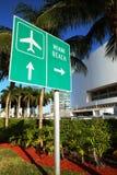 使迈阿密符号靠岸 免版税库存图片
