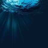 使综合做上升的海运温暖的水的概念深鱼全球横向靠岸 库存照片