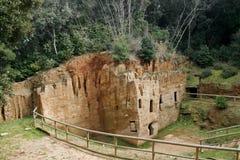 使etruscan大墓地populonia陷下 免版税库存图片