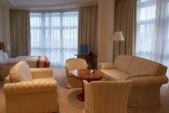 侈奢的旅馆客房 库存图片