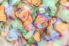 例证、用颜色软的树荫做的抽象背景和五谷技术 免版税库存图片