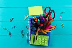 例证办公室学校用品向量 免版税库存图片