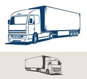 例证半拖车卡车向量 免版税库存图片