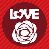 例证向量图形心脏,爱和浪漫 库存照片
