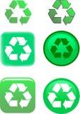 例证回收符号向量 免版税库存照片