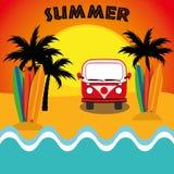 例证图表传染媒介夏天,旅行,假日 库存图片