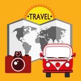 例证图表传染媒介夏天,旅行,假日 免版税库存图片