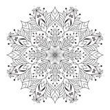 例证坛场来回装饰品的模式 圆的装饰品样式 皇族释放例证