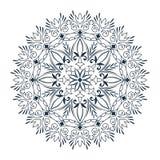 例证坛场来回装饰品的模式 圆的装饰品样式 库存例证