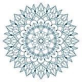 例证坛场来回装饰品的模式 圆的装饰品样式 向量例证