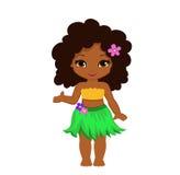 例证夏威夷女孩表明在某事的手 库存图片
