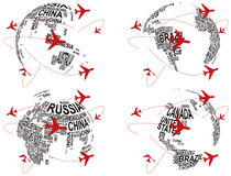世界飞机 免版税库存图片