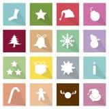 例证套16个圣诞快乐象 免版税库存图片
