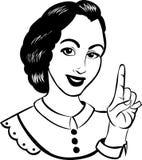 例证妇女 免版税库存照片