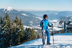 例证山滑雪者向量 库存照片