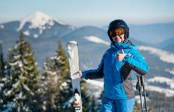 例证山滑雪者向量 库存图片