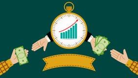 例证快支付投资或财政 免版税库存图片