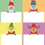 例证新年和圣诞节导航背景,与空的空间的设计模板您的文本的 库存照片