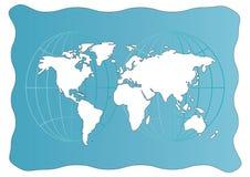 例证映射世界 免版税库存照片