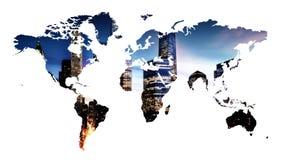 例证映射影子世界 免版税库存图片
