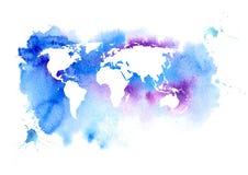 例证映射旧世界 地球 水彩 库存例证