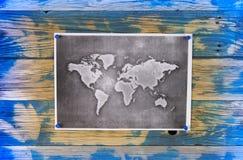 例证映射旧世界 库存照片