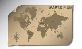 例证映射旧世界 免版税库存照片