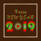 例证标志新年快乐 向量例证