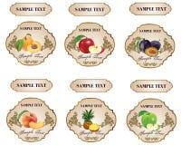 例证标签油橄榄产品 库存照片