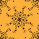 例证模式无缝的向量黄色 向量例证
