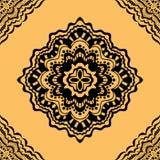 例证模式无缝的向量黄色 皇族释放例证