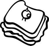 例证橄榄色三明治向量 免版税库存照片