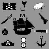 例证海盗光栅集合向量 库存例证