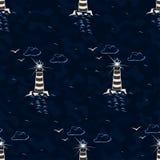 例证海洋模式无缝的向量 免版税库存图片