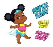例证特级英雄多文化的女婴 免版税图库摄影