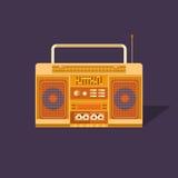 例证盒式磁带录音机 免版税库存图片