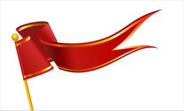 例证红旗和金带 免版税库存图片