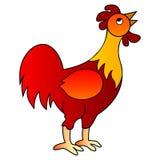 例证红色雄鸡向量 免版税库存照片
