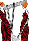 例证罗马妇女 免版税图库摄影