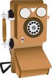 例证老电话 免版税库存图片