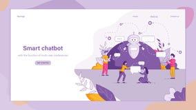 例证聪明的Chatbot答复人民问 皇族释放例证