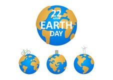 例证行星地球和三个类型  库存图片