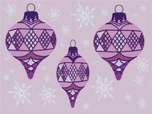 例证装饰紫色 免版税库存图片