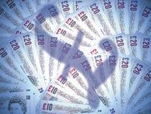 例证货币漩涡 免版税库存照片