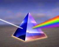 例证轻的棱镜光芒 图库摄影