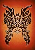 例证部族屏蔽的纹身花刺 皇族释放例证
