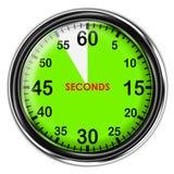 例证金属秒表 免版税库存照片